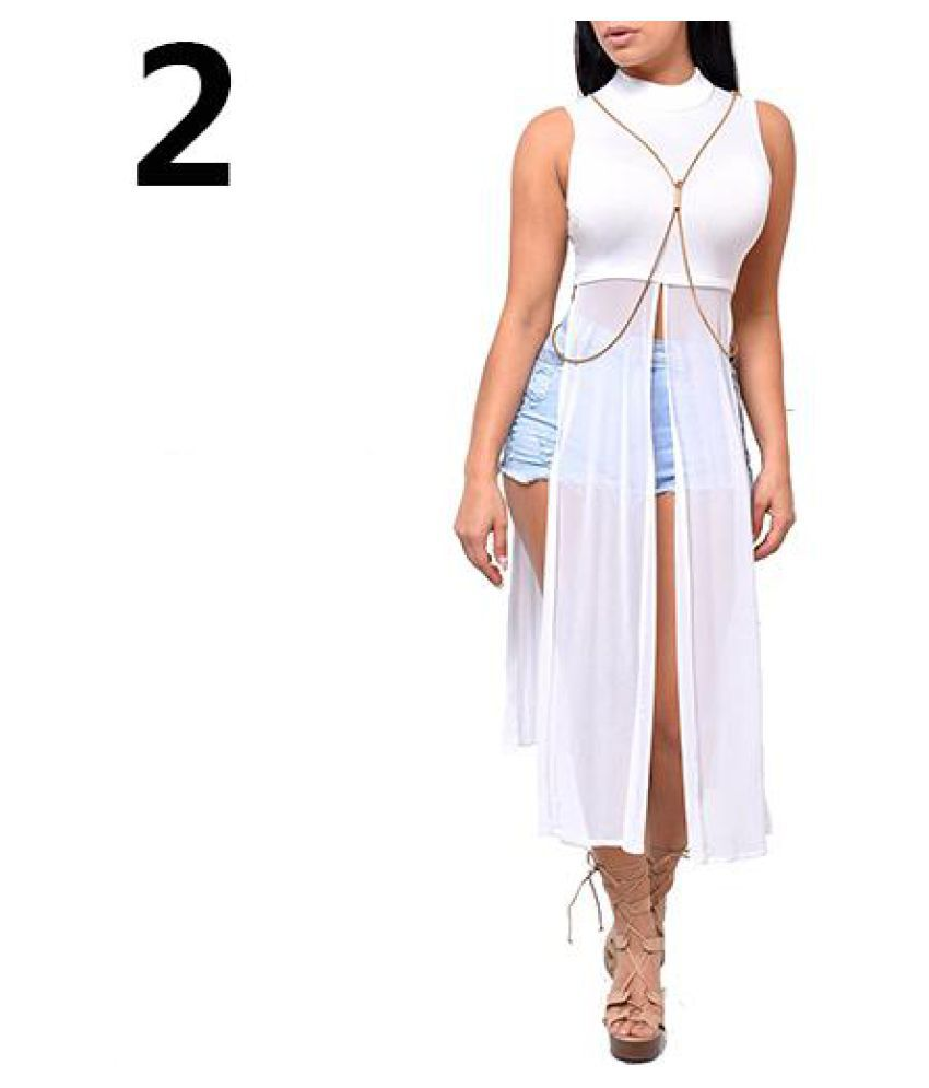 c8a9325dd12 ... Split Clubwear Maxi Dress - Buy Women Summer Mesh Patchwork Sleeveless  High Side Split Clubwear Maxi Dress Online at Best Prices in India on  Snapdeal