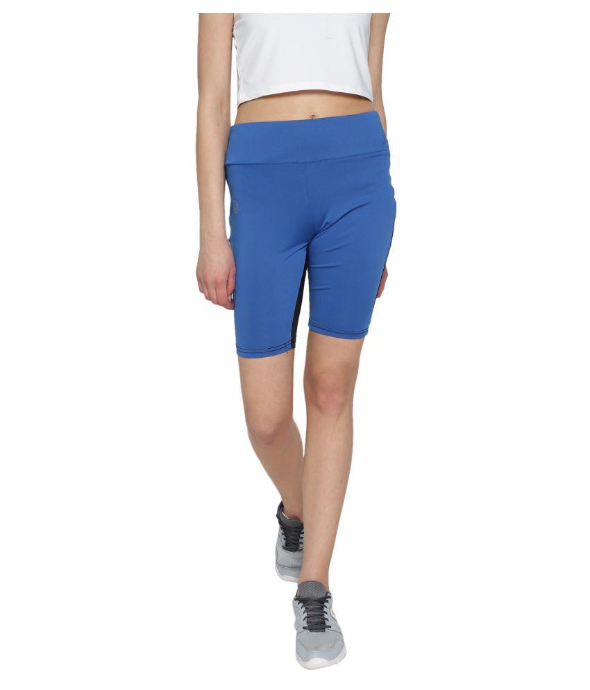 CHKOKKO Women's Sports Gym and Stretchable Yoga Shorts Magenta Black