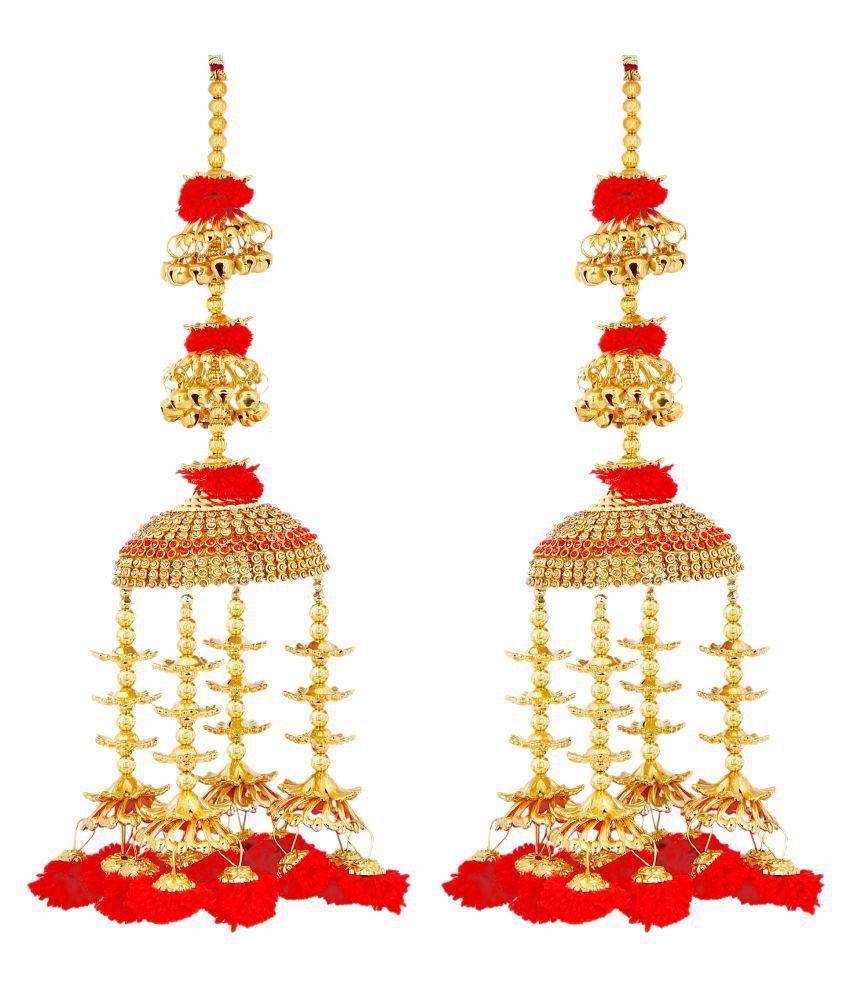 Mansiyaorange Punjabi Bridal Hand Kalire For Women