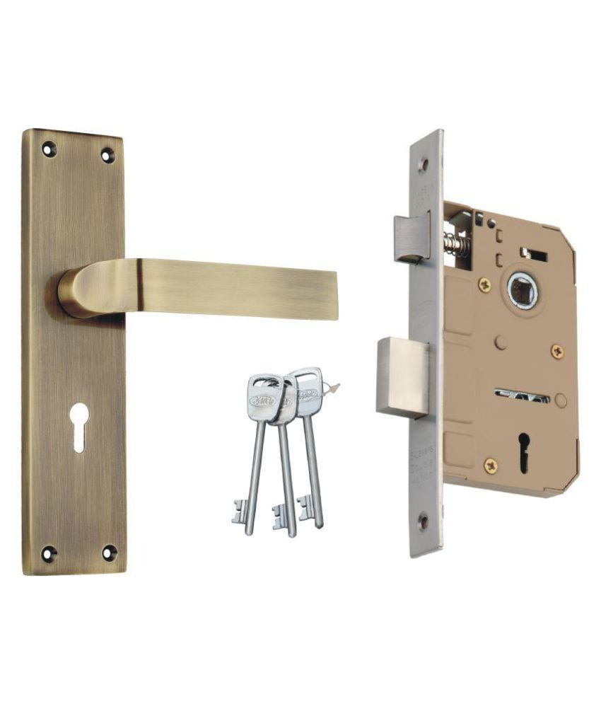 Spider Zinc  Mortice Key Lock  Set  With  Matt Antique Brass Finish (EMLS + ZZ26MAB)