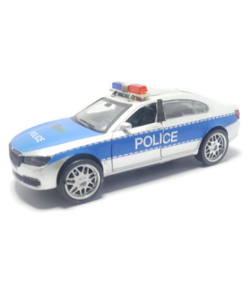 Tingoking Scale Model BMW Police Car Push Back Die Cast Toys For
