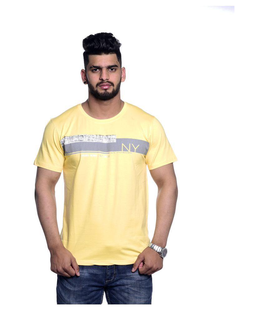 Le Bon Ton Yellow Half Sleeve T-Shirt Pack of 1