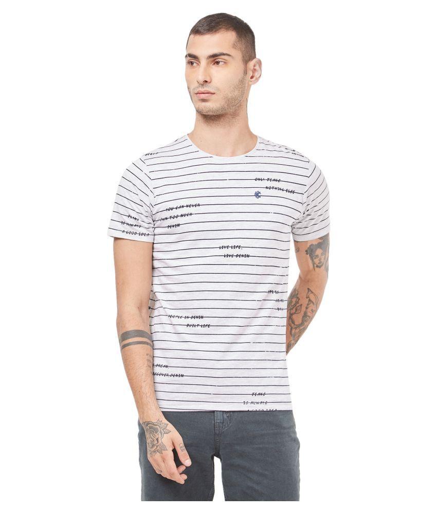 Killer White Half Sleeve T-Shirt