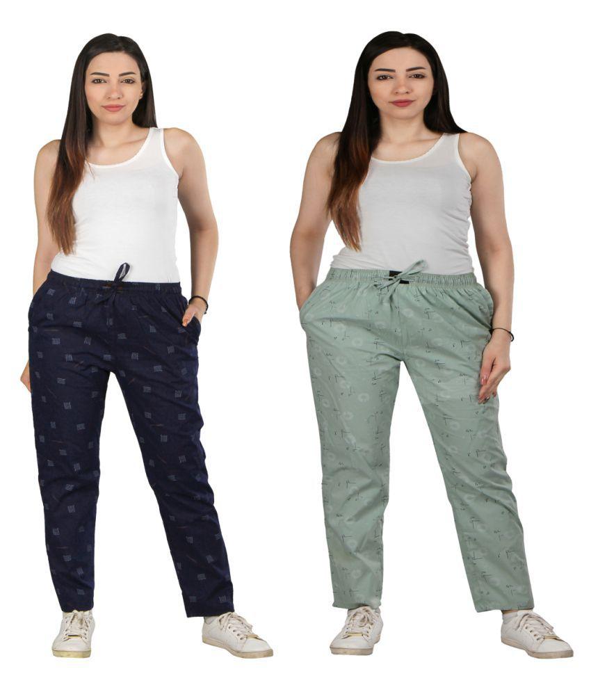 Flamboyant Cotton Pajamas - Multi Color