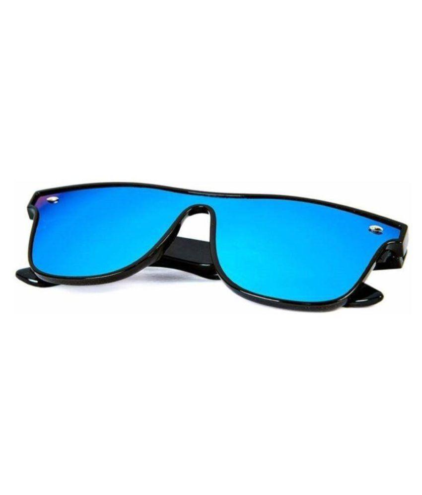Adrian - Blue Rectangle Sunglasses ( OPS-1152-52 )