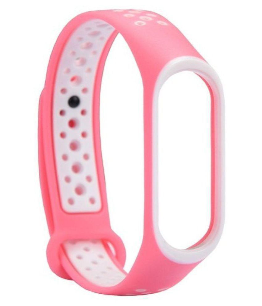 TOTU Two-tone Soft Silicone Watch Strap Replace Part for Xiaomi Mi Band 3  Replacement Watch Bands Soft Silicone Lightweight Ventilate Sport Wristband