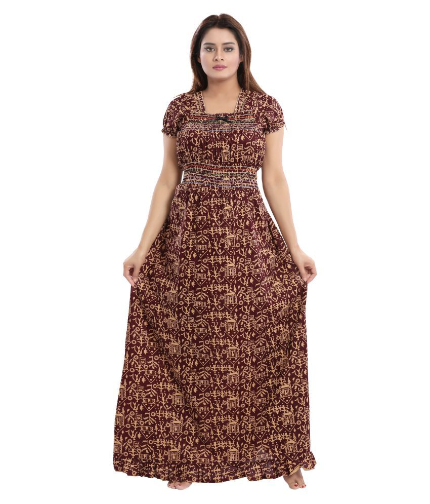 06facd435f Buy Cinco Cotton Nighty & Night Gowns - Multi Color Online at Best Prices in  India - Snapdeal