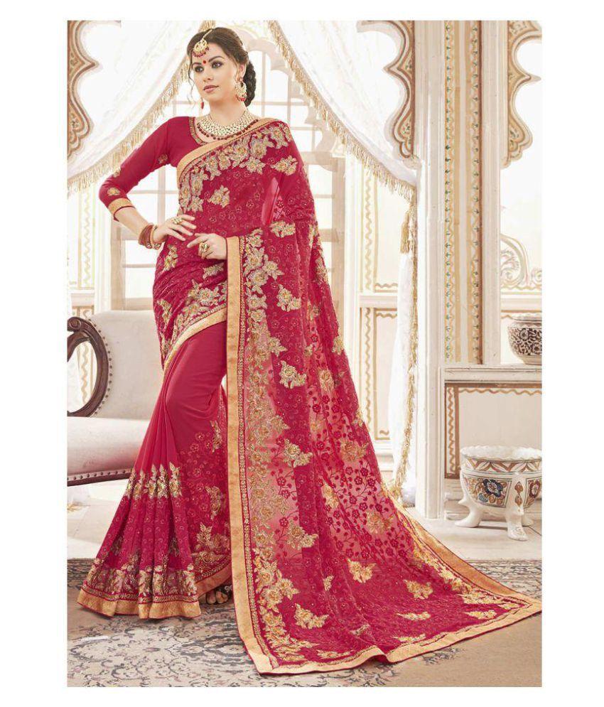 78299f51db0 Zofey Bollywood Designer Sarees Pink Georgette Saree Zofey Bollywood  Designer Sarees Pink Georgette Saree