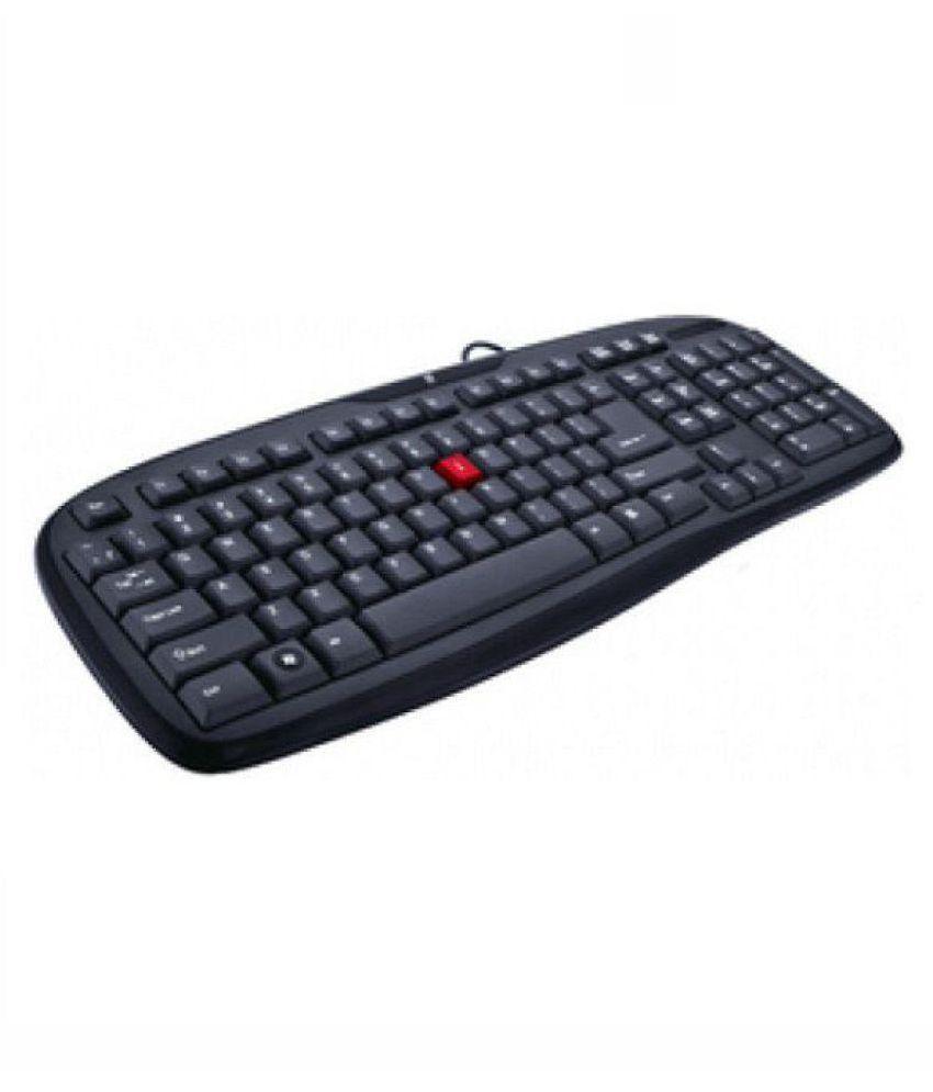 iBall iball winner usb v2.0 Black USB Wired Desktop Keyboard