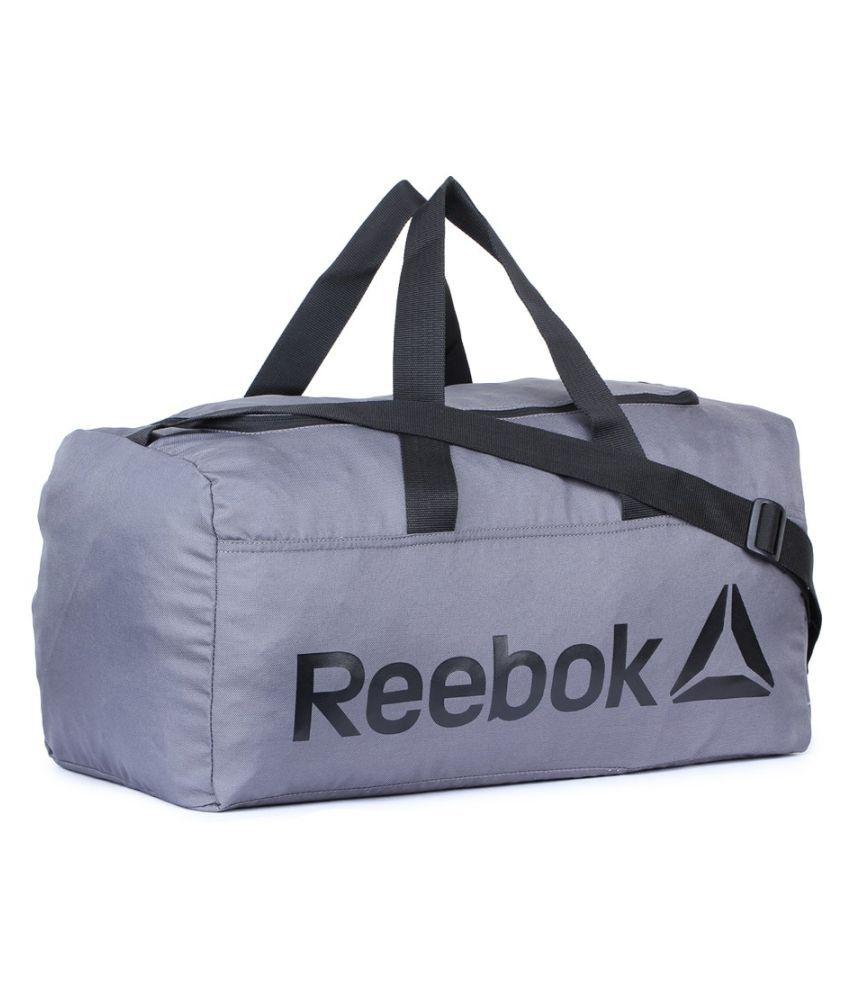 Reebok Grey Solid Duffle Bag - Buy Reebok Grey Solid Duffle Bag ... 0916ff372b93d