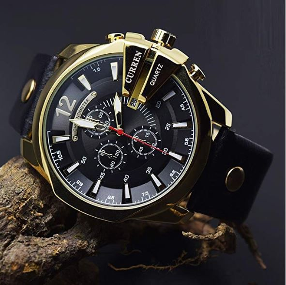 Curren Cur 8176 Black Gold Stainless Steel Chronograph Men S Watch