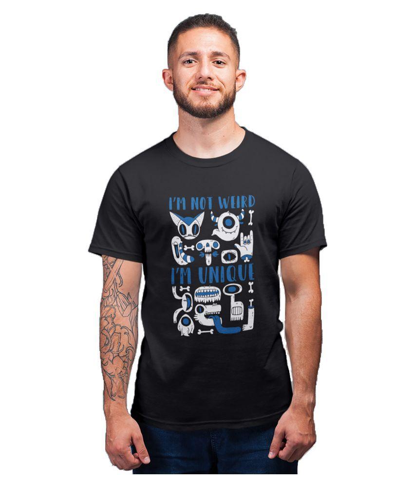 DigiPrintShop Black Half Sleeve T-Shirt