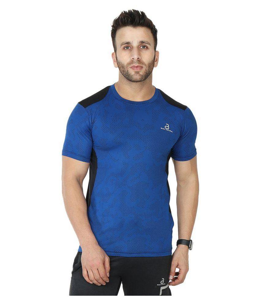 BUILT NATURAL Blue Cotton T-Shirt Single Pack