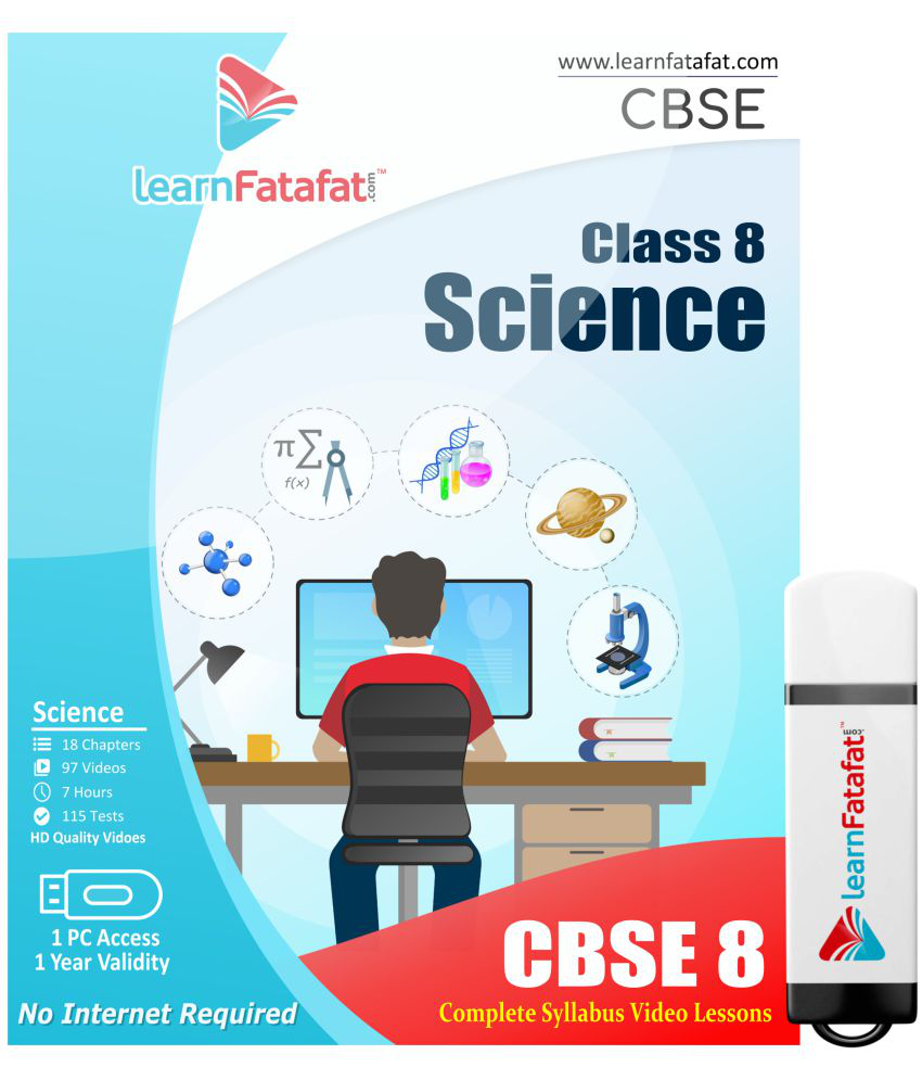 LearnFatafat CBSE Class 8 Science Video Pendrive Pen Drive