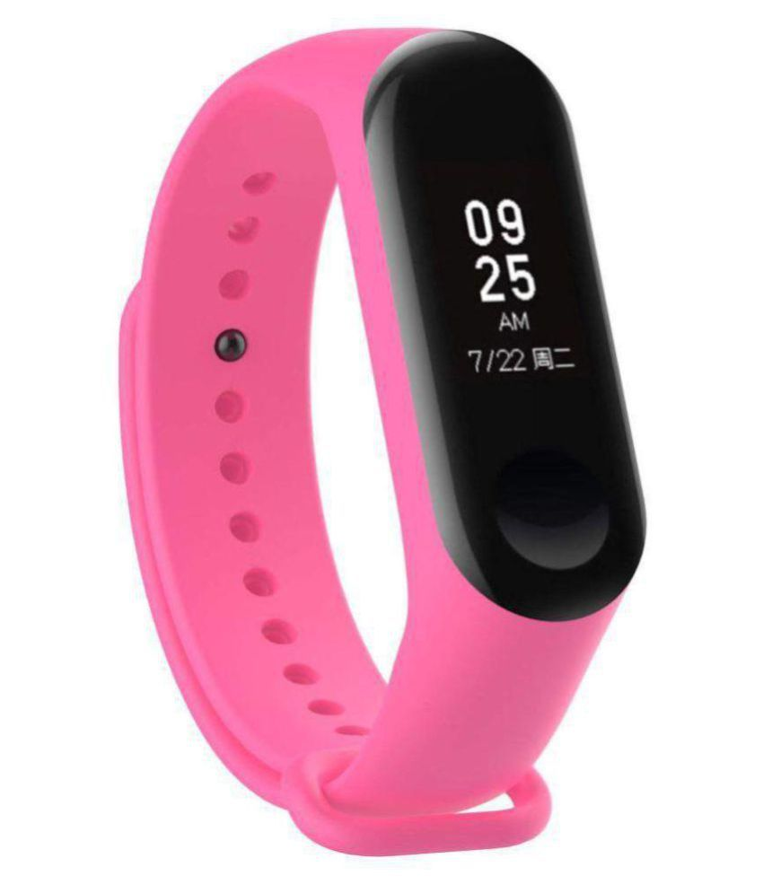 ADDY M3 PINK Smart Band With Heart Rate Sensor Features And Many Other Impressive Features, Water Proof Or Sweat Free