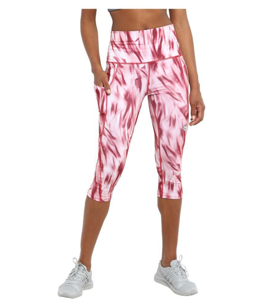 dafda13a438142 CHKOKKO Sportswear Stretchable Yoga Workout Gym Capri for Women Gym Wear  Women/Tight Women/Yoga Dress: Buy Online at Best Price on Snapdeal