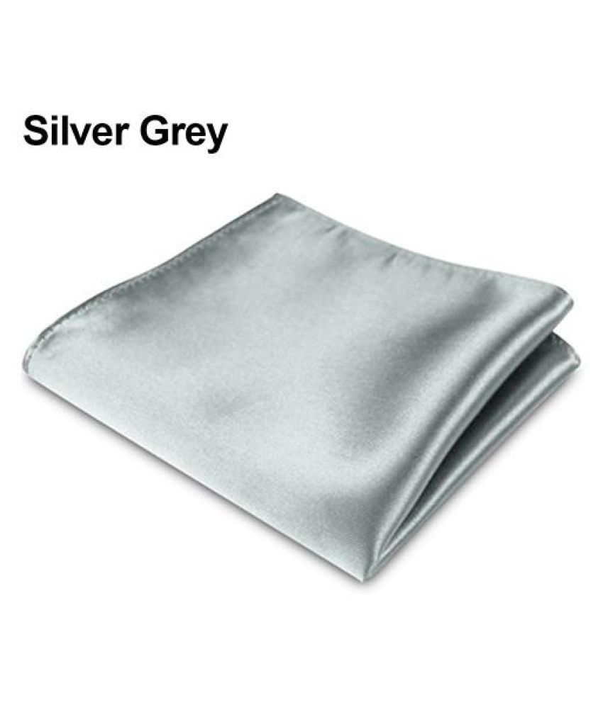 0591050f12c31 1Pc Men's Satin Solid Plain Color Handkerchief Hanky Pocket Square for  Wedding Party-Silver Grey: Buy Online at Low Price in India - Snapdeal