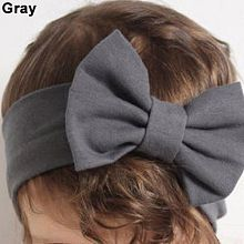 1Pc Cute Baby Girls Big Bowknot Elastic Headband Hairband Headwear Accessory
