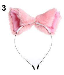 Girl Cute Cat Fox Faux Fur Ears Hair Band Headband Cosplay Party Headwear