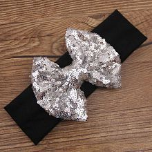Infant Girls Baby Sequined Bowknow Hair Band Headwear Headband Hair Accessory