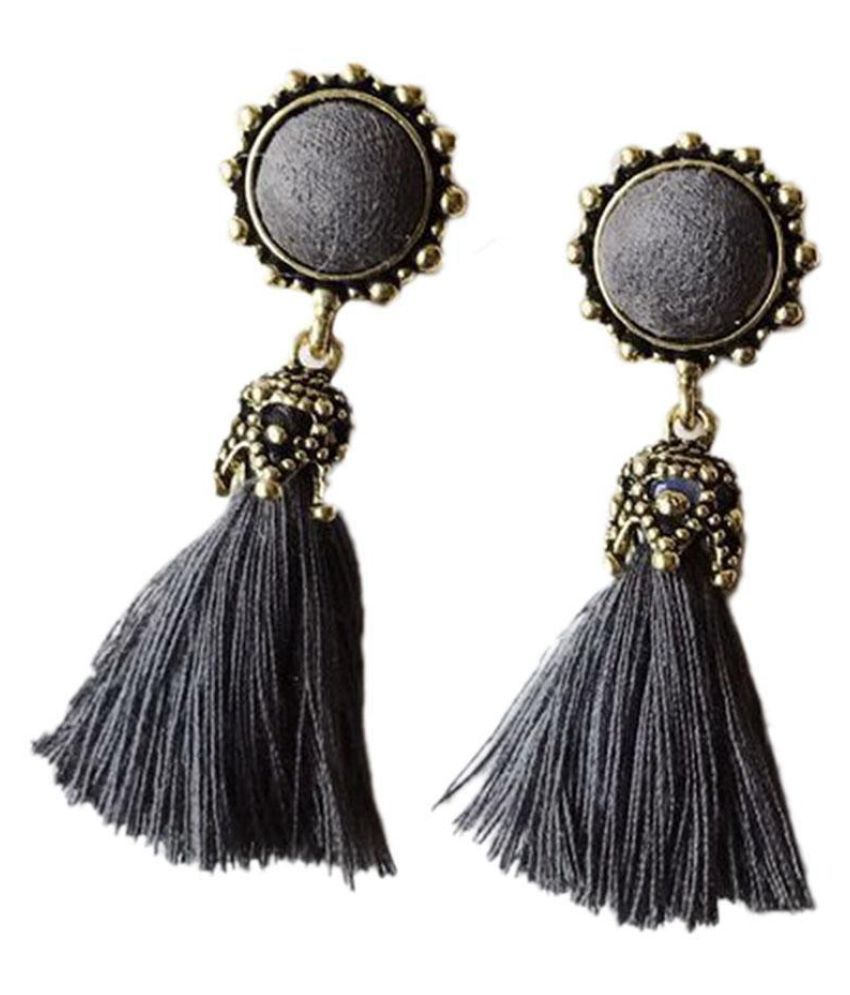 Women Vintage Style Long Tassel Pierced Drop Earrings Fashion Jewellery