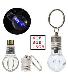 4/8/16GB USB 2.0 Blue LED light Lamp Bulb Model Memory Flash Stick Pen Drive