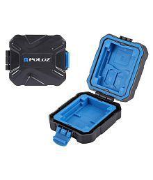 PULUZ PU5001 9 in 1 Waterproof Shockproof Memory Card Case TF Card Box 9 Slots Card Storage Bag