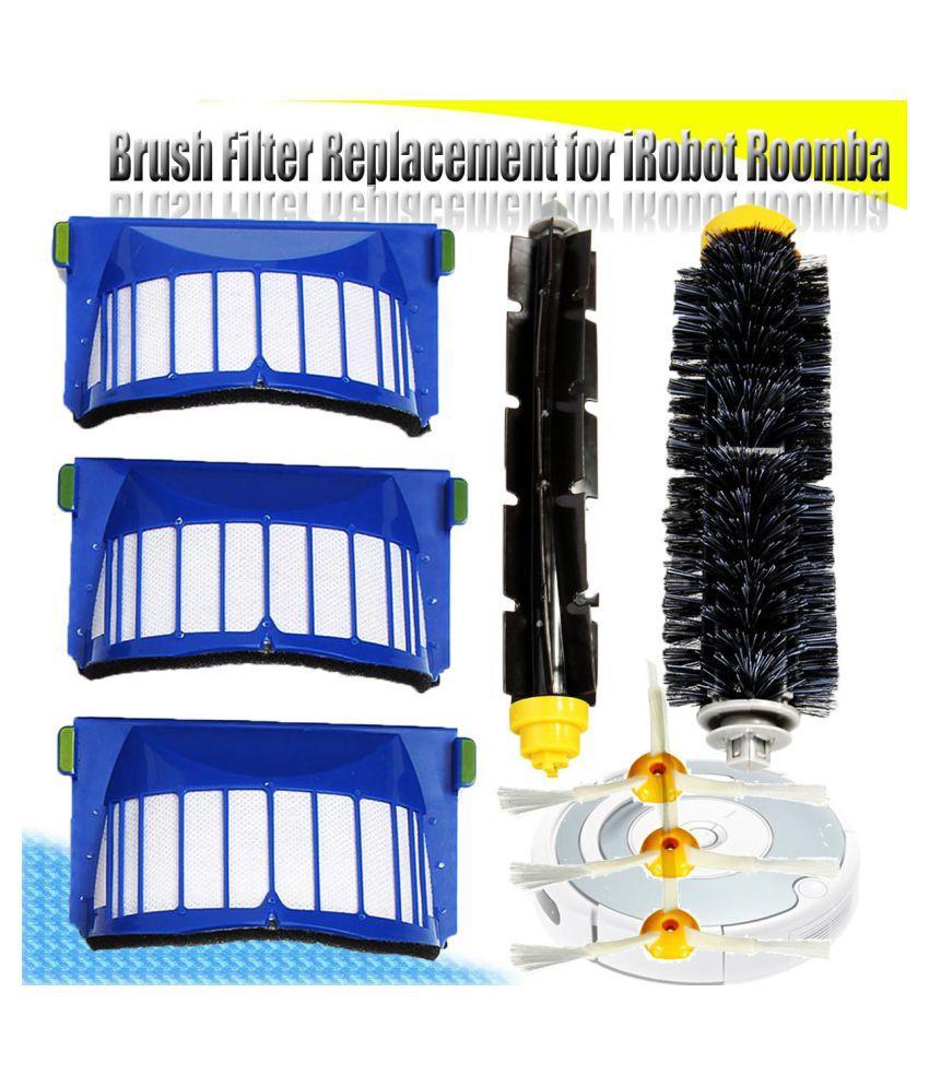 Brush Filter Kit 3-Armed For iRobot Roomba Aerovac 600 Series 620 630 650 660 US