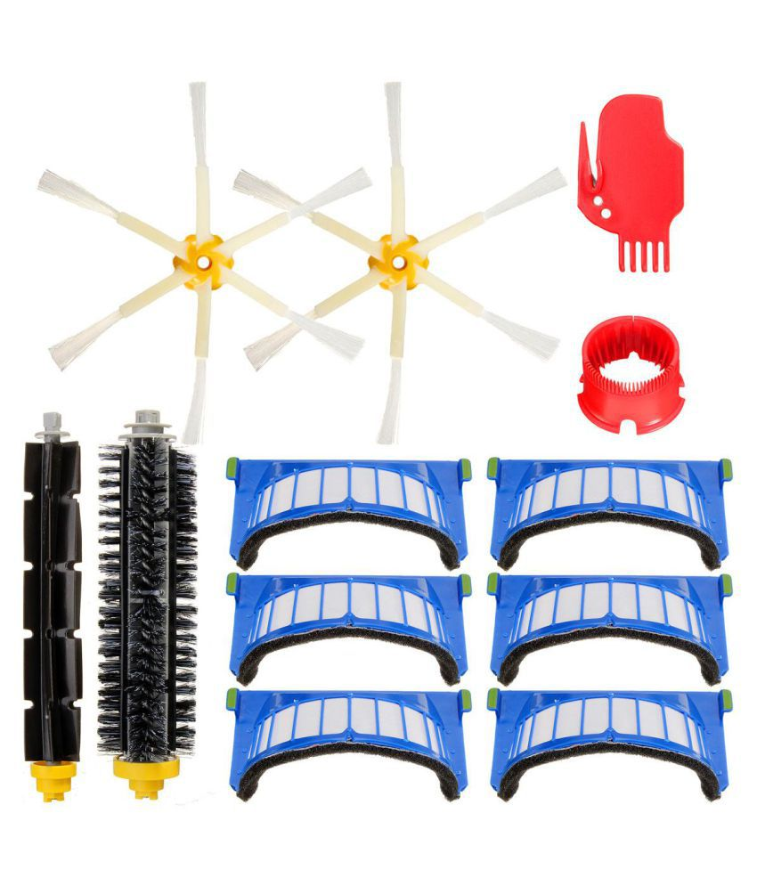 Filters & 6-Armed Side Brush Kit for iRobot Roomba 600 Series 620 630 650 660