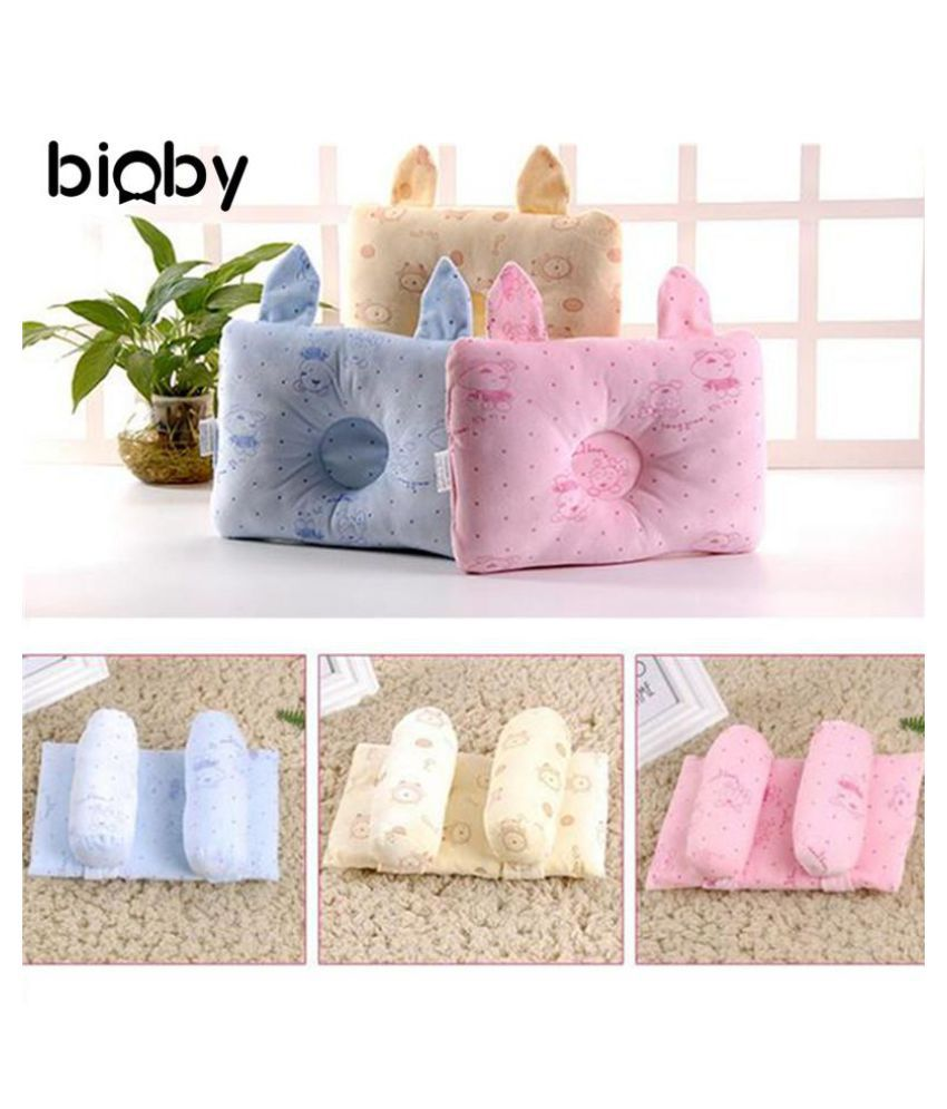 2 Styles Newborn Baby Pillow 197*245mm Head Support Bed Prevent Flat Sleep Positioner Nursing Anti-rollover Toddler