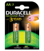 Duracell AA 2 Cell 1300mAh Rechargeable Battery 1