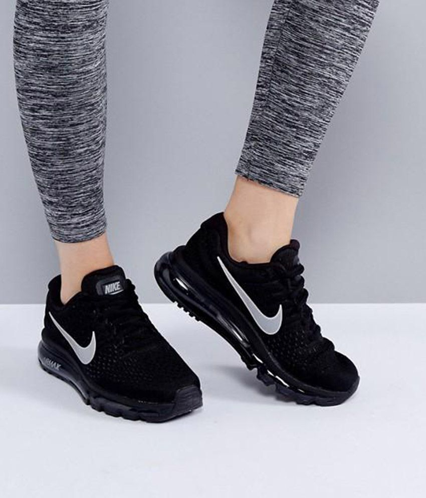 a06a0de80 Nike Air Max 2017 Black Womens Running Shoes Price in India- Buy ...