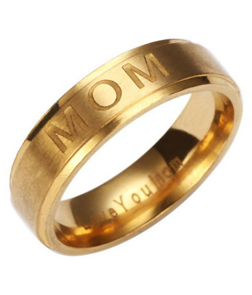 Fashion Mom Dad Stainless Steel Carving Ring Gift Party Wedding