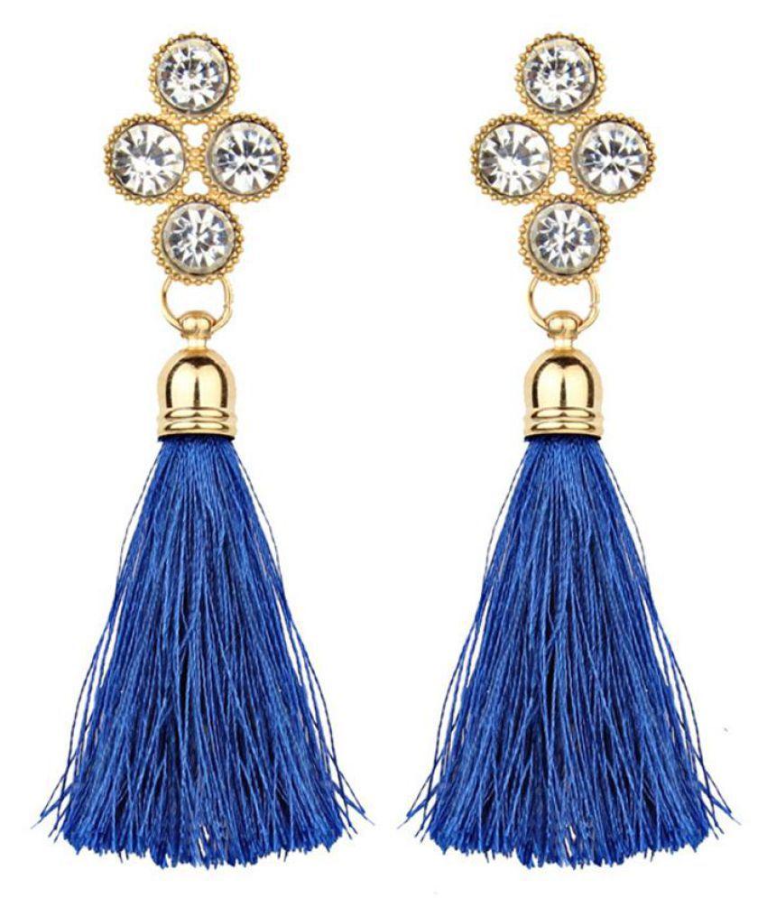 Women Bohemian Rhinestones Long Tassel Charm Jewelry Party Club Earrings Gift Fashion Jewellery