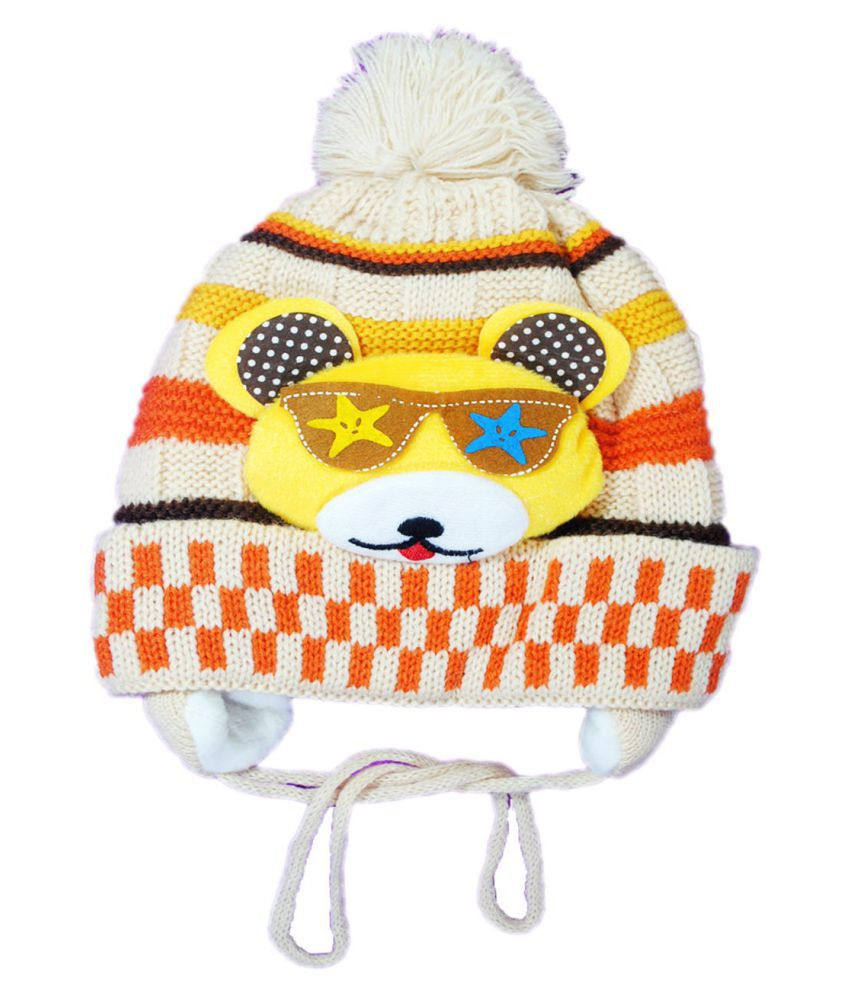 Kids Stylish Winter Cap/ Woollen Cap (Biege)