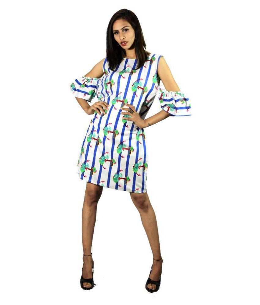 armaan khan designs Rayon Multi Color A- line Dress