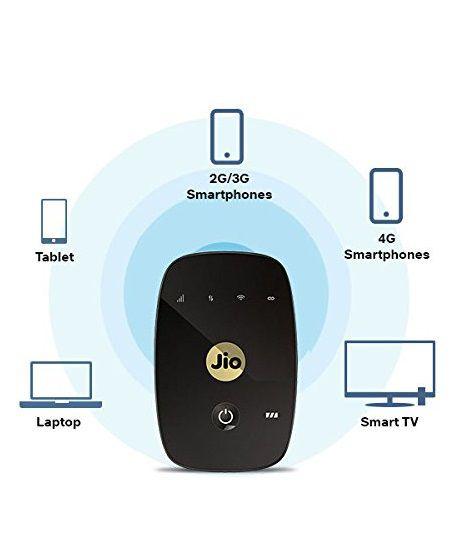 JioFi 4G Hotspot M2S 150 Mbps Jio 4G Portable Wi-Fi Data Device (Black)