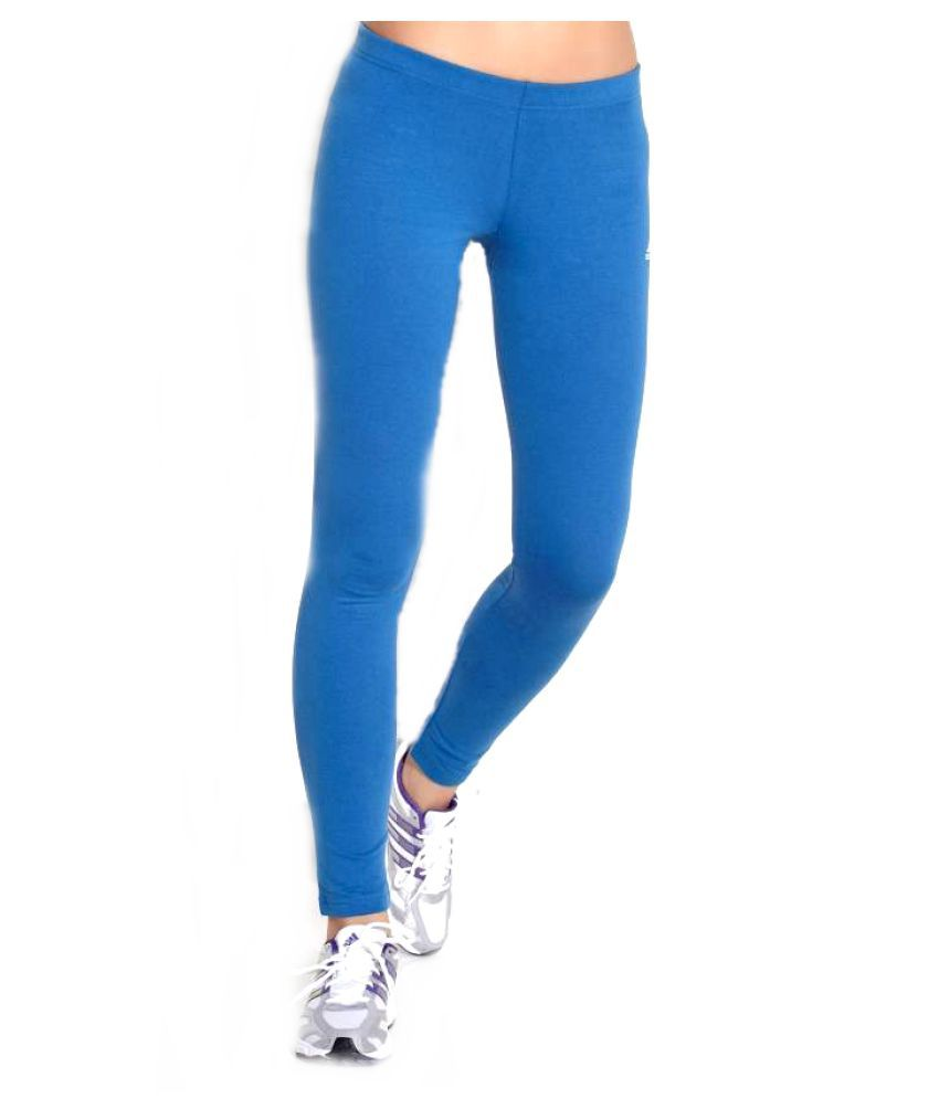 721ed574897 Buy Adidas Cotton Lycra Tights - Blue Online at Best Prices in India -  Snapdeal