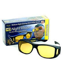 HD Wrap Arounds Vision Glasses Best Price Real Glasses Perfect Night Driving Glasses (AS SEEN ON TV)