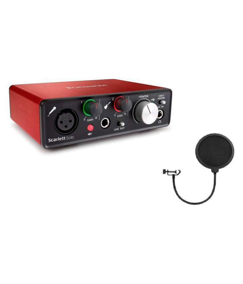 Focusrite Scarlett Solo (2nd Gen) USB Audio Interface with Pop Filter