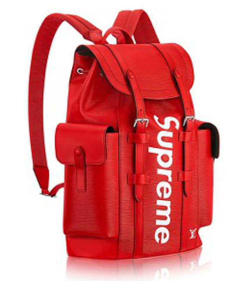 e6859a83977 Supreme Leather Red × Louis Vuitton Backpack
