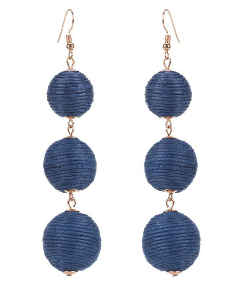 Fashion Lady Handmade Balls Dangle Hook Earrings Christmas Party Eardrop Jewelry Fashion Jewellery