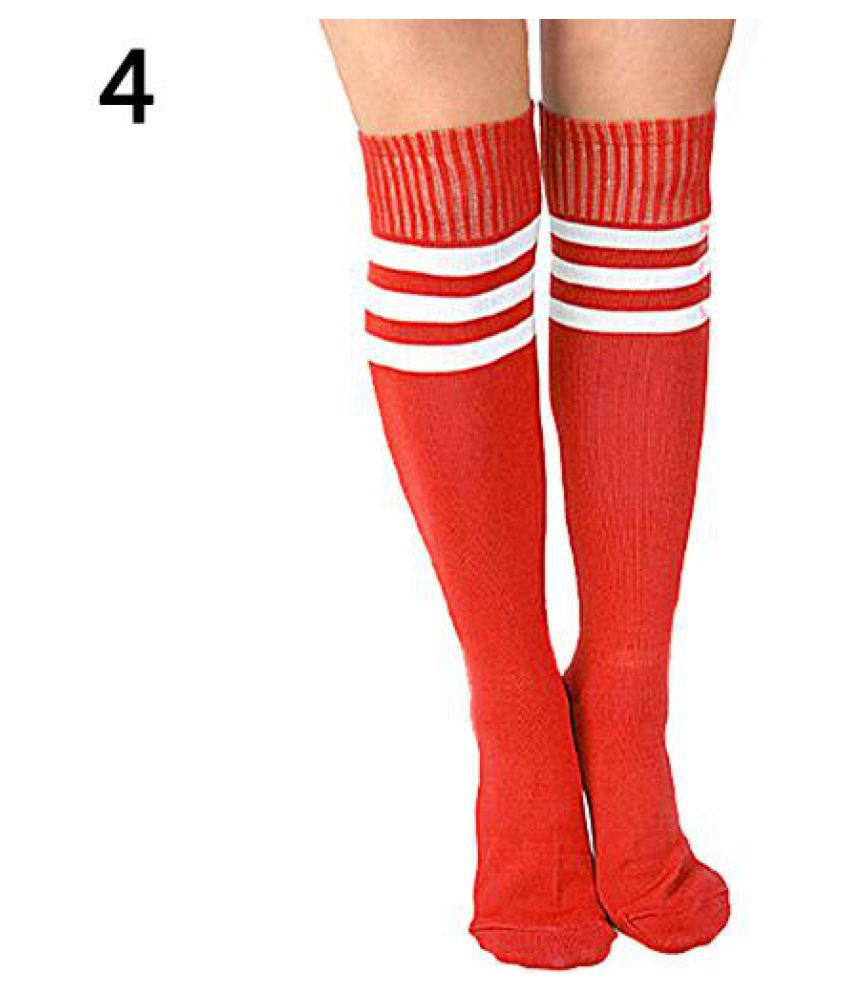 87efa8a5c Fashion Men Women Soccer Football Basketball Striped Knee High Sport Socks  ( 1 Piece )  Buy Online at Low Price in India - Snapdeal