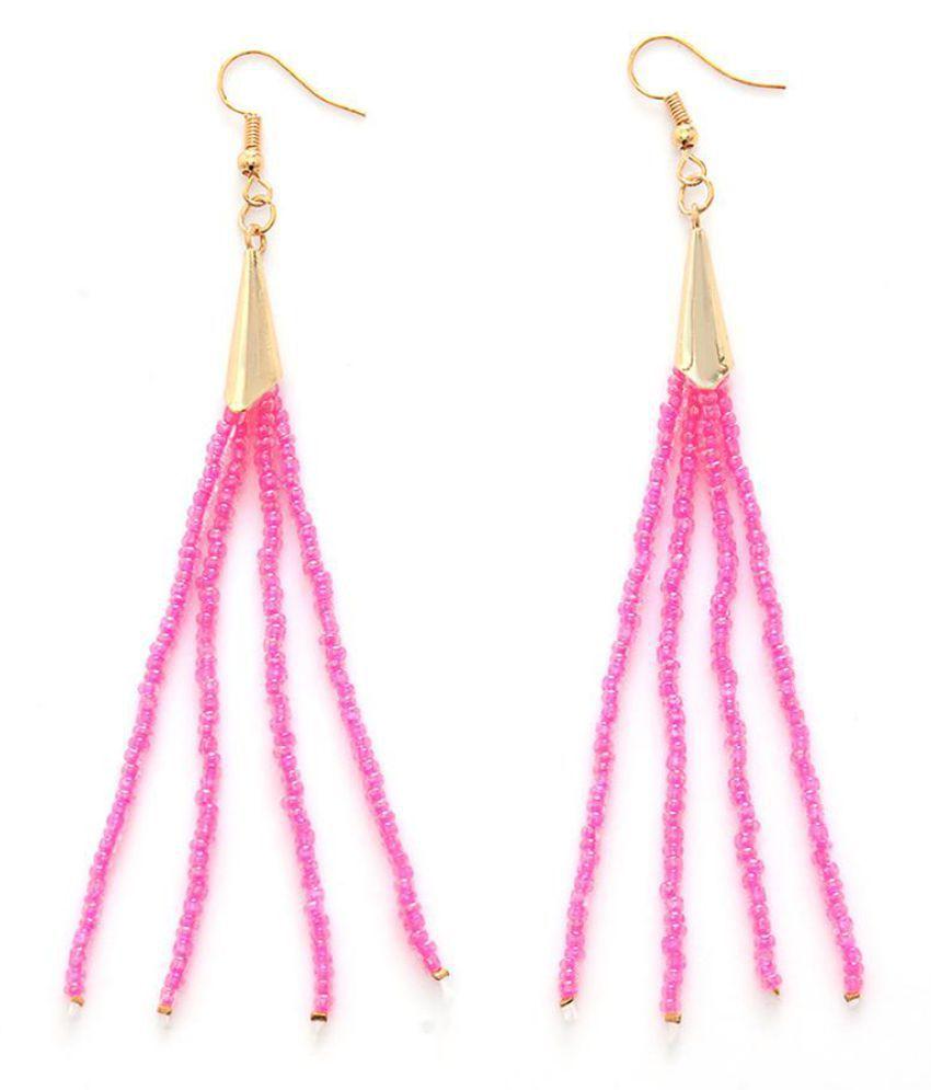 Fashion Women Handmade Beads Tassels Dangle Drop Hook Earrings Statement Jewelry Fashion Jewellery