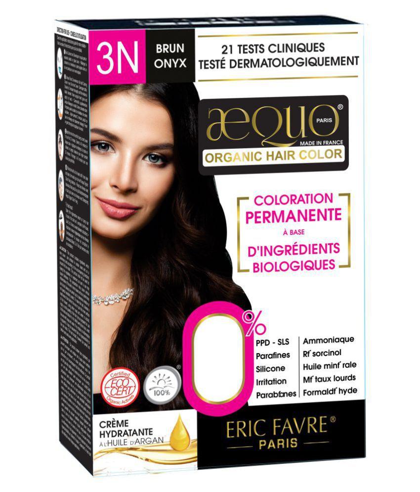 Aequo Organic Women 3N Semi Permanent Hair Color Dark Brown 170 ml