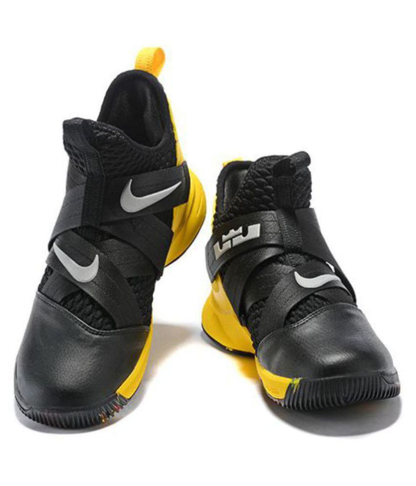 5617fc2a0 Nike Lebron soldier 12 Midankle Male Black  Buy Online at Best Price on  Snapdeal