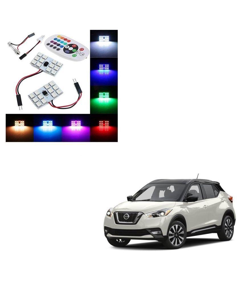 Auto Addict Car 12 LED RGB Roof Light with IR Remote Car Fancy Lights For Nissan Kicks