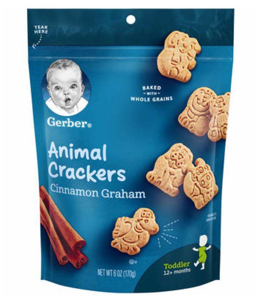 Gerber Baby Food CINNAMON GRAHAM Snack Foods for 12 Months + ( 170 gm )