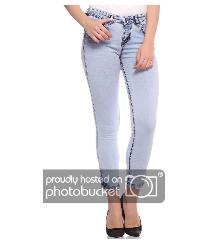 Fasnoya Cotton Lycra Jeans - Blue