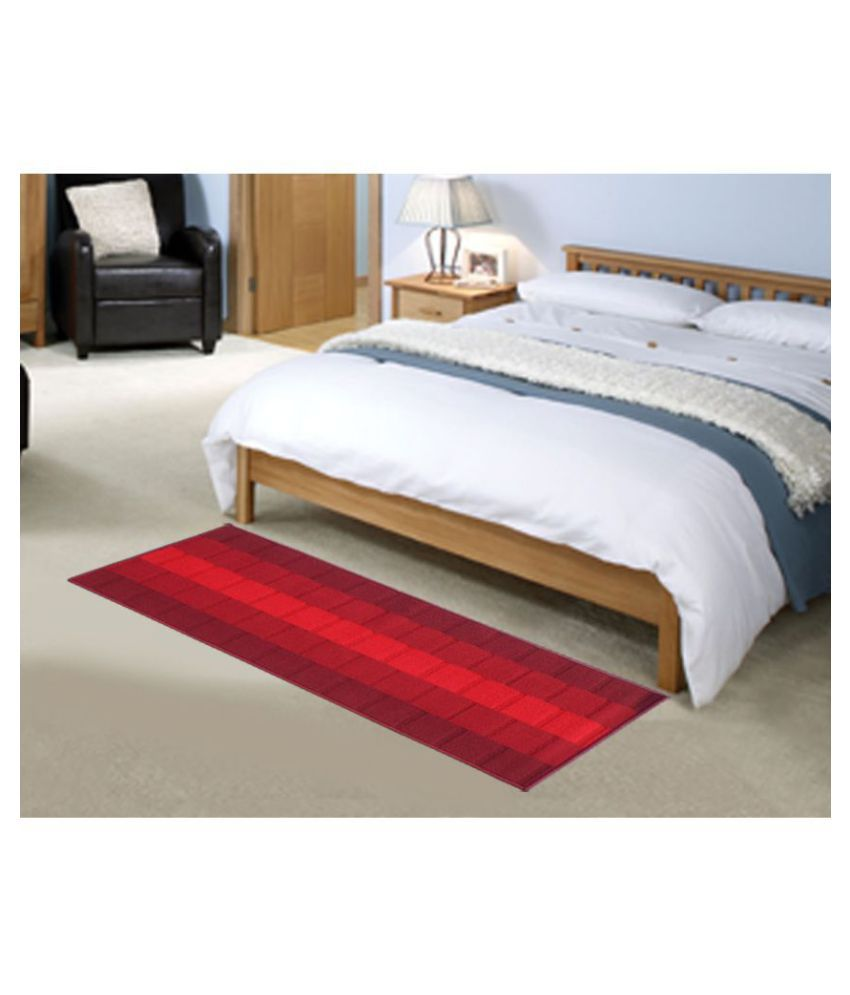 Status Red Runner Single Polypropylene Abstract Other Sizes Ft